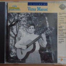 CDs de Música: AA - VÍCTOR MANUEL LO MEJOR DE VÍCTOR MANUEL CD AÑO 1991 PROMOCIONAL. Lote 57238581