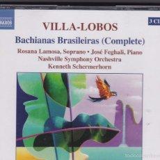 CDs de Música: VILLA-LOBOS - BACHIANAS BRASILEIRAS - 3 CDS. Lote 57273882