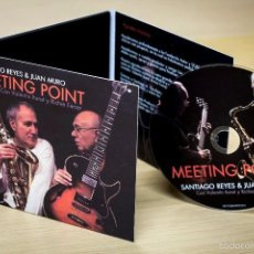 CDs de Música: MEETING POINT. SANTIAGO REYES & JUAN MURO. 2013. 11 CANCIONES. FIRMADO POR JUAN MURO. NUEVO. Lote 120794368