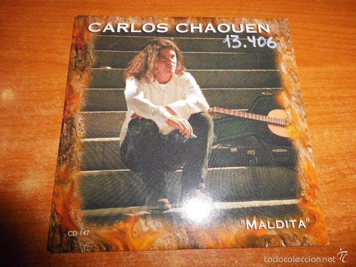 CARLOS CHAOUEN MALDITA CD SINGLE PROMO CARTON DEL AÑO 2000 CONTIENE 1 TEMA (Música - CD's Pop)