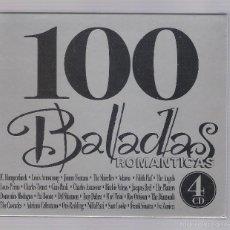 CDs de Música: 100 BALADAS ROMÁNTICAS (4 CD 2002, SEND MUSIC 04.007). Lote 57388510