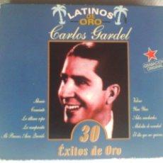 CDs de Música: CD DOBLE CARLOS GARDEL - LATINOS DE ORO / 30 ÉXITOS DE ORO. Lote 57470740