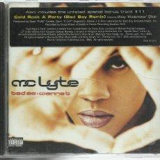 CDs de Música: MC LYTE - BAD AS I WANNA B - CD ELEKTRA 1996. Lote 57511070