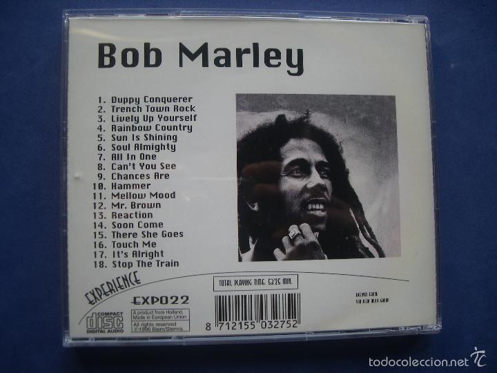 CDs de Música: BOB MARLEY (EXPERIENCE) CD 18 TRACKS PEPETO - Foto 3 - 57631163