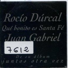 CD di Musica: ROCIO DURCAL Y JUAN GABRIEL / QUE BONITO ES SANTA FE (CD SINGLE CARTON PROMO 1997). Lote 57646027
