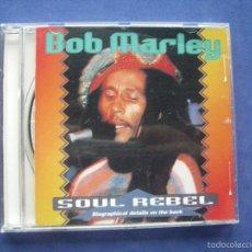 CDs de Música: BOB MARLEY SOUL REBELD CD ALBUM PEPETO. Lote 57654790