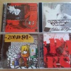CDs de Música: PACK 4 CD PUNK OI SKINHEADS ARGENTINA. ZONA 84, PAYASOS TRISTES, DESCONTENTO JUVENIL (C1). Lote 94892707