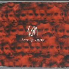 CDs de Música: KORN - HERE TO STAY - CD SINGLE EPIC 2002 PROMO. Lote 57727436