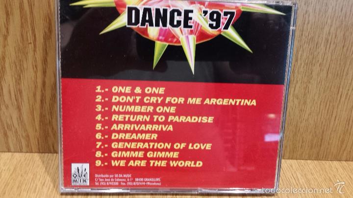 CDs de Música: DANCE97. ARRIVARRIVA. CD / QUE MIK MUSIC - 1997. 9 TEMAS / CALIDAD LUJO. - Foto 3 - 57879307