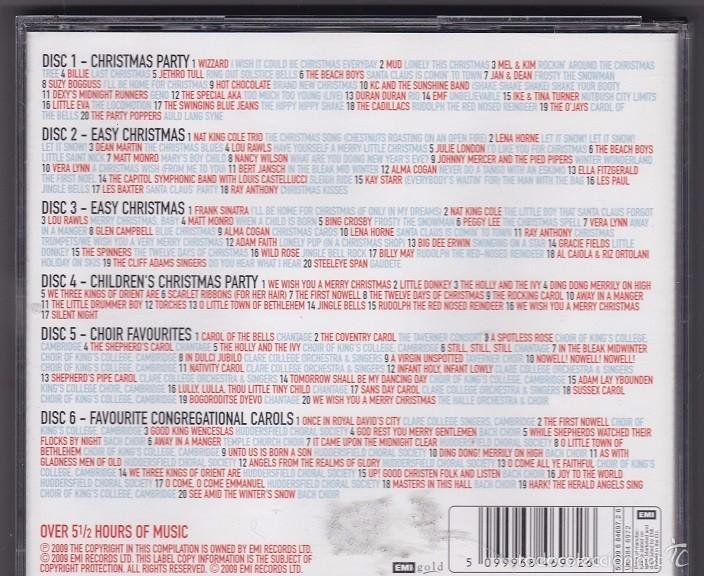 CDs de Música: Christmas - 115 Original Hits - Recopilación de 6 CDs de música navideña y villancicos - Foto 2 - 57910000
