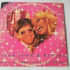 CDs de Música: ELTON JOHN & RUPAUL - DON'T GO BREAKING MY HEART / DONNER POUR DONNER (CD SINGLE FRANCES 1993). Lote 57911195