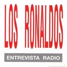 CDs de Música: LOS RONALDOS - ENTREVISTA RADIO + 4 TEMAS DE SU DISCO IDIOTA (17 TRACKS) - EMI 1994. Lote 57918956
