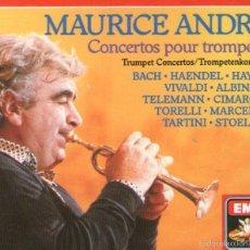 CDs de Música: DOBLE CD ALBUM: MAURICE ANDRÉ - CONCERTOS POUR TROMPETTE - 40 TRACKS - EMI 1987. Lote 57920461