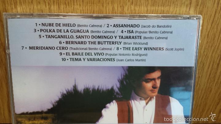 CDs de Música: CANARIAS CANTA. BENITO CABRERA. COLECCION 2000 Nº 1. CD / MANZANA. 10 TEMAS / PRECINTADO. - Foto 2 - 57925416