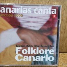 CDs de Música: CANARIAS CANTA. ÉXITOS DEL FOLKLORE CANARIO. COLECCIÓN 2000 Nº 4. CD / MANZANA.10 TEMAS / PRECINTADO. Lote 57925471