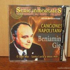 CDs de Música: BENIAMINO GIGLI - CANCIONES NAPOLITANAS - CD EN SOBRE DE CARTON NUEVO. Lote 57956750