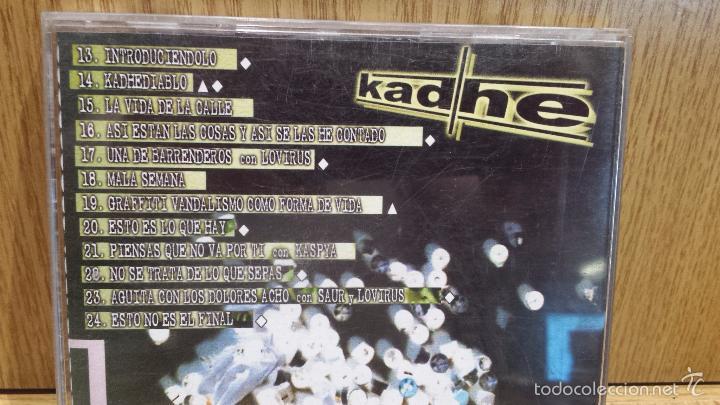 CDs de Música: KADHE. GRAFFITI VANDALISMO COMO FORMA DE VIDA. CD / SEÑORGUINDILLA / 12 TEMAS / LUJO - DIFÍCIL. - Foto 3 - 57975127