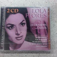 CDs de Música: 2 CD NUEVO LOLA FLORES 24 GRANDES ÉXITOS LA ZARZAMORA CON EL DORREFÁ AY, PENA, PENITA, PENA. Lote 96637052
