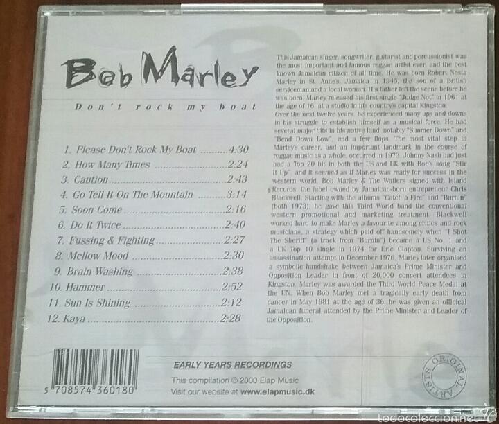 CDs de Música: CD: BOB MARLEY DON'T ROCK MY BOAT - Foto 3 - 57996772