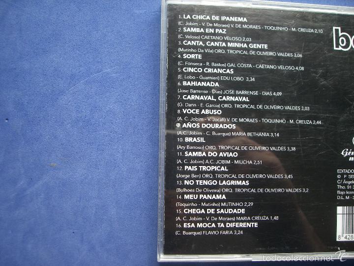 CDs de Música: BOSSA NOVA CD ALBUM 2004 VOl 1 SEND MUSIC C.JOBIM , TOQUINHO , M.CREUZA, V. MORAES C, VELOSO PEPETO - Foto 2 - 58000479