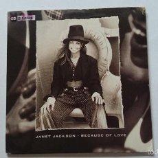 CDs de Música: JANET JACKSON - BECAUSE OF LOVE (2 VERSIONS) (CD SINGLE EDIC. HOLANDESA 1994). Lote 58013105