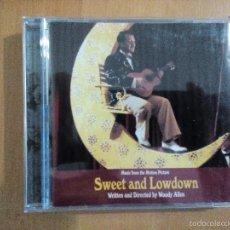 CDs de Música: SWEET AND LOWDOWN CD BANDA SONORA WOODY ALLEN FILM. Lote 58017909