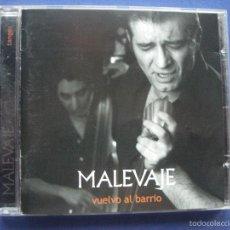 CDs de Música: MALEVAJE VUELVO AL BARRIO CD ALBUM ARENA ( RARO ) TANGOS EN DIRECTO. Lote 58019885