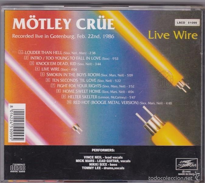 mötley crüe - live wire - directo de 1986. edic - Comprar CDs de ...