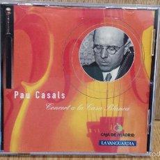CDs de Música: PAU CASALS. CONCERT A LA CASA BLANCA. CD / SONY CLASSICAL - 1994. 12 TEMAS / LUJO. Lote 58068660