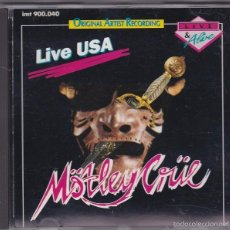 CDs de Música: MÖTLEY CRÜE - LIVE USA - CD UNOFFICIAL RELEASE (IMT 900.040) RECORDED LIVE IN U.S.A. IN 1983 + 1984. Lote 58069113