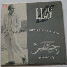 CDs de Música: LLUIS LLACH - ET DEIXO UN PONT DE MAR BLAVA (FRAGMENT 3:42) (CD SINGLE PROMO 1994). Lote 58099173