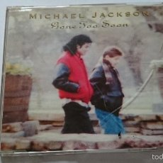 CDs de Música: MICHAEL JACKSON - GONE TOO SOON / HUMAN NATURE / SHE'S OUT OF MY LIFE / THRILLER (CD MAXI 1993). Lote 200190971
