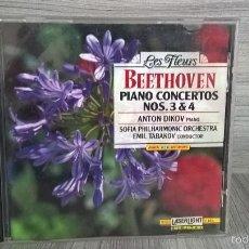 CDs de Música: BEETHOVEN. PIANO CONCERTOS NOS. 3 Y 4. LES FLEURS. MUSICA.. Lote 58195082
