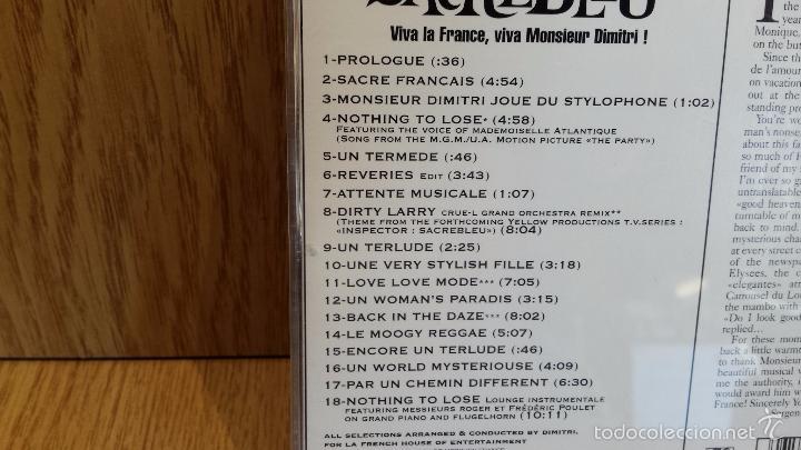 CDs de Música: DIMITRI FROM PARIS. SACREBLEU. CD / ATLANTIC - 18 TEMAS / CALIDAD LUJO. - Foto 4 - 58204071