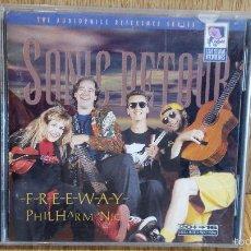 CDs de Música: FREEWAY PHILHARMONIC - SONIC DETOUR. CD / SHEFFIELD LAB - 1995 (JAZZ-ROCK) / LUJO.. Lote 58216262