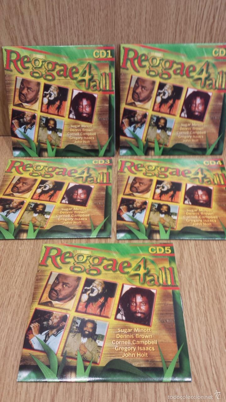REGGAE 4 ALL / VARIOS ARTISTAS - 5 CDS FUNDA CARTÓN EN CALIDAD LUJO. EN TOTAL 66 TEMAS / LEER. (Música - CD's Reggae)