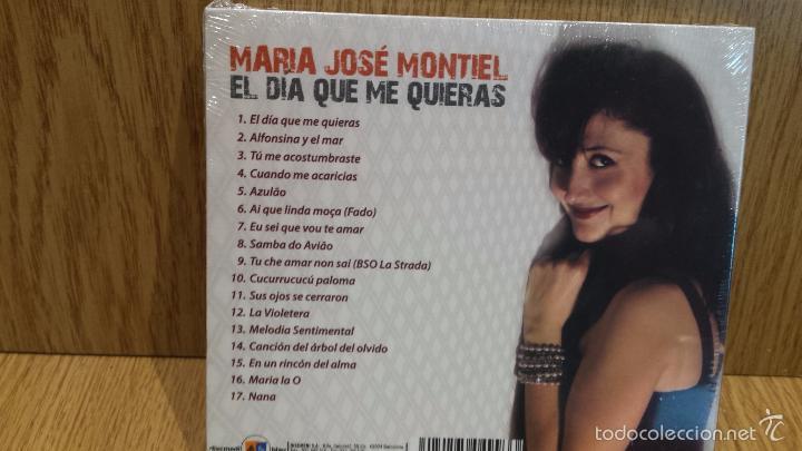 CDs de Música: MARÍA JOSÉ MONTIEL. EL DÍA QUE ME QUIERAS. DIGIPACK-CD / 17 TEMAS / PRECINTADO. - Foto 2 - 58328698