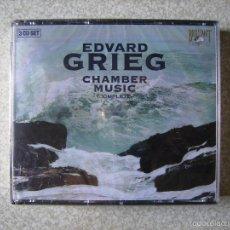 CDs de Música: EDVARD GRIEG.CHAMBER MUSIC COMPLETE...3 CD´S...COMO NUEVOS. Lote 58328798