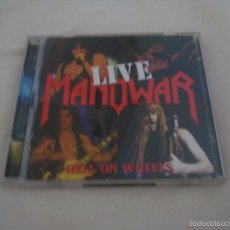 CDs de Música: MANOWAR HELL ON WHEELS LIVE 2 CDS. Lote 58333626