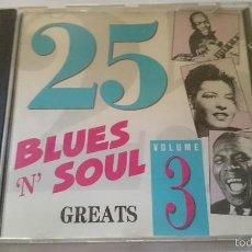 CDs de Música: VARIOS - BLUES 'N' SOUL GREATS VOLUME 4 (25 CANCIONES/TRACKS) (CD ALBUM). Lote 58343836