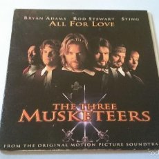 CDs de Música: BRYAM ADAMS + ROD STEWART + STING (BSO/OST 'THE THREE MUSKETEERS') - ALL FOR LOVE (CD SINGLE 1993). Lote 58369569