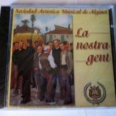 CDs de Música: LA NOSTRA GENT - SOCIEDAD ARTISTICA MUSICAL DE ALGINET -CD 11 TEMAS- IP 2000 SPAIN -NUEVO PRECINTADO. Lote 58393108