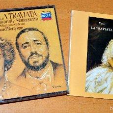 CDs de Música: ÁLBUM 3 CD + LIBRETO: LA TRAVIATA - CON SUTHERLAND, PAVAROTTI, MANUGUERRA, BONYNGE - DECCA 1983. Lote 58395781