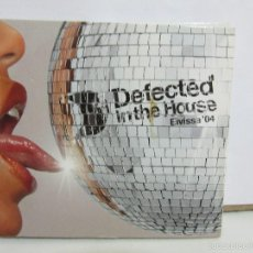 CDs de Música: DEFECTED IN THE HOUSE 04 - 3 X CD - ELECTRONIC HOUSE - UK - 2004 - EX+/NM+. Lote 58400743