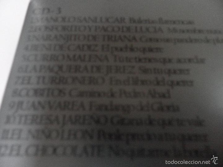 CDs de Música: ANTOLOGIA DEL FLAMENCO, LA COLECCION DEFINITIVA EN 3 CD,S, BELLBOX 2 - Foto 5 - 58504839