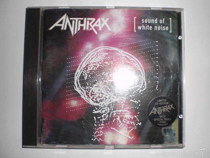 ANTHRAX: SOUND OF WHITE NOISE. CD LIMITED CD-EDITION WITH SPECIAL SKULL PRINT. (Música - CD's Heavy Metal)