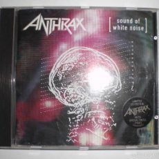 CDs de Música: ANTHRAX: SOUND OF WHITE NOISE. CD LIMITED CD-EDITION WITH SPECIAL SKULL PRINT.. Lote 58558067
