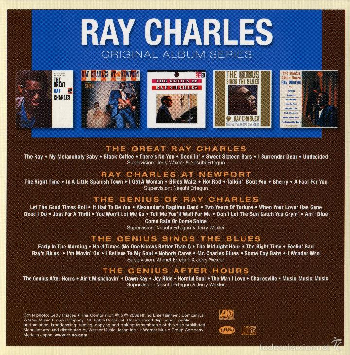 CDs de Música: RAY CHARLES * BOX 5 CD * ORIGINAL ALBUM SERIES OF RAY CHARLES * CAJA PRECINTADA!!! - Foto 2 - 97094371