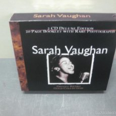 CDs de Música: SARAH VAUGHAN. DEJAVU RETRO. GOLD COLLECTION. 2 CD DELUXE EDITION. . Lote 58610783
