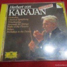 CDs de Música: HERBERT VON KARAJAN CONDUCTS BERLIN PHILHARMONIC ORCHESTRA.. Lote 58665124